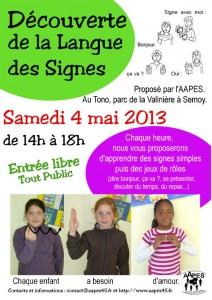 Affiche de la découverte de la Langue des Signes